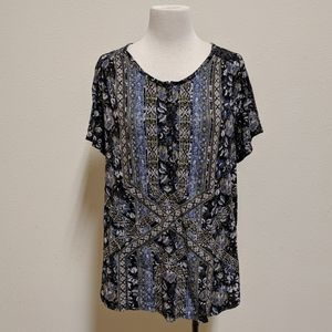 Lucky brand top size 2x blouse